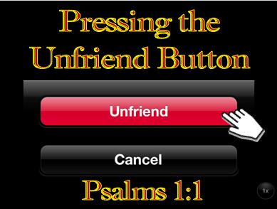 1-15-17 Pressing the Unfriend Button